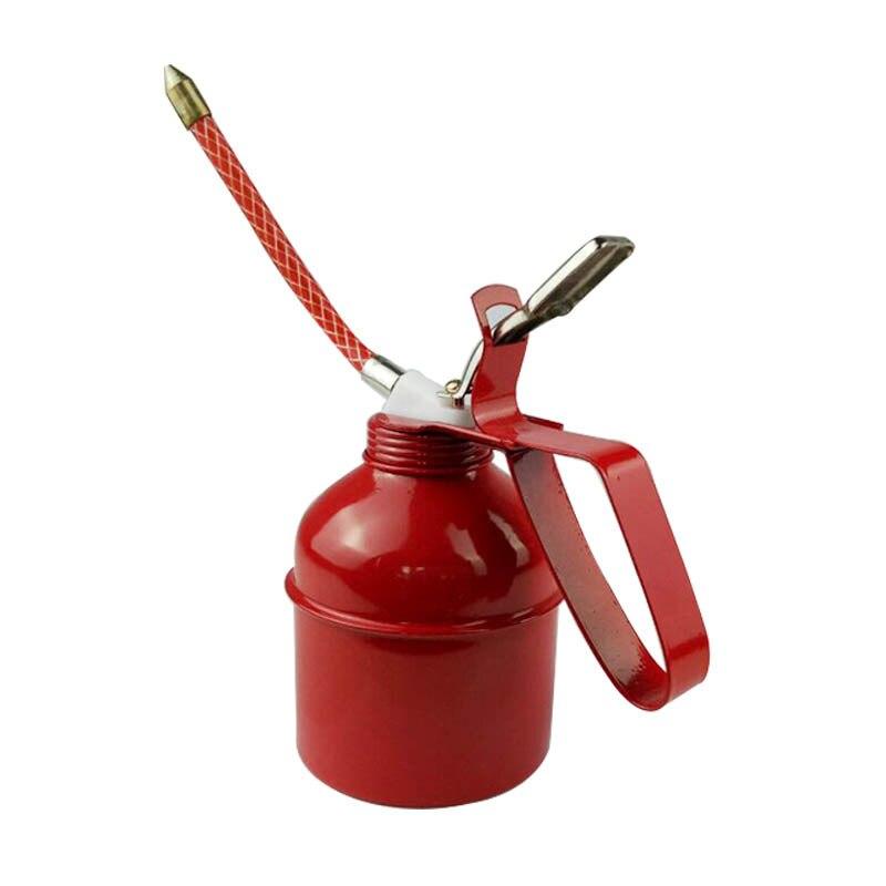 300CC/500CC Machine Oiler Pump 300 Psi Metal Oiler High Pressure Long Beak Oil Can Pot Hand Tools for Lubricating Airbrush
