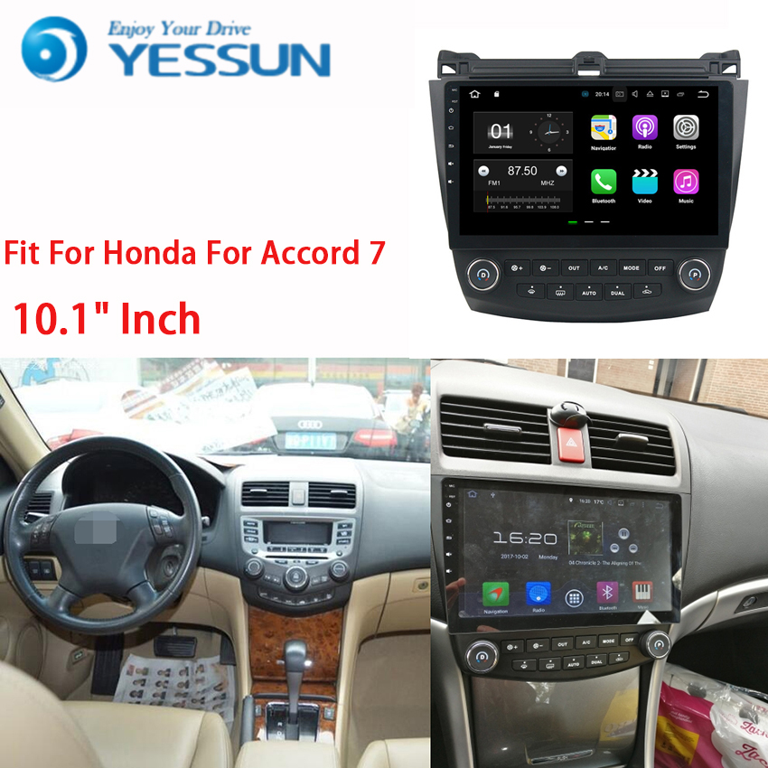 YESSUN Car Navigation GPS For Honda For Accord 7 2003~2007 Android HD Touch Screen Audio Video Radio Multimedia Player No CD DVD yessun for kia rio 2017 2018 android car navigation gps hd touch screen audio video radio stereo multimedia player no cd dvd