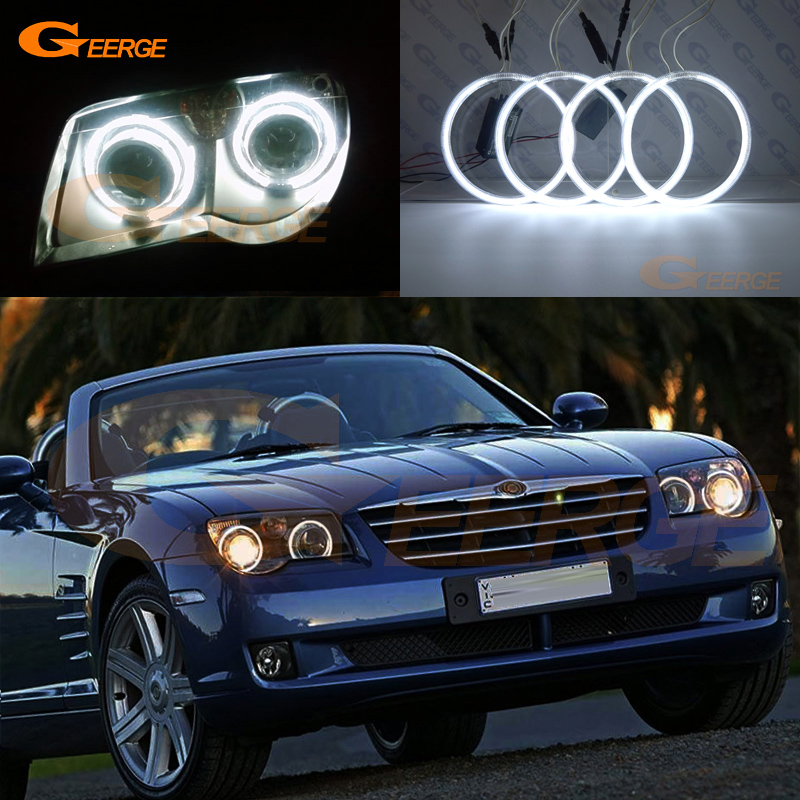 For Chrysler Crossfire 2004 2005 2006 2007 2008 Excellent Angel Eyes Ultra bright illumination CCFLangel eyes
