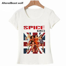 af96cf15a5698 Spice Girls womens T Shirts 2019 vogue white o-neck summer tshirt women  fashion harajuku