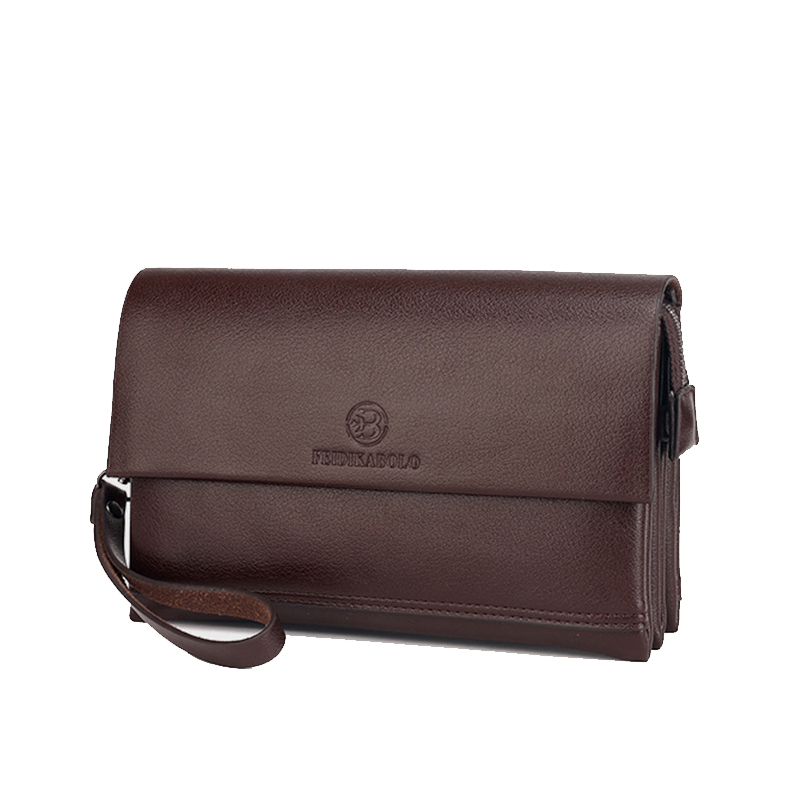 2964f3e1c F Brand Wallet Men Clutch Bag Fashion Leather Purse carteras Men's Handy Bags  Purse Business Man Monederos Wallets-in Wallets from Luggage & Bags on ...