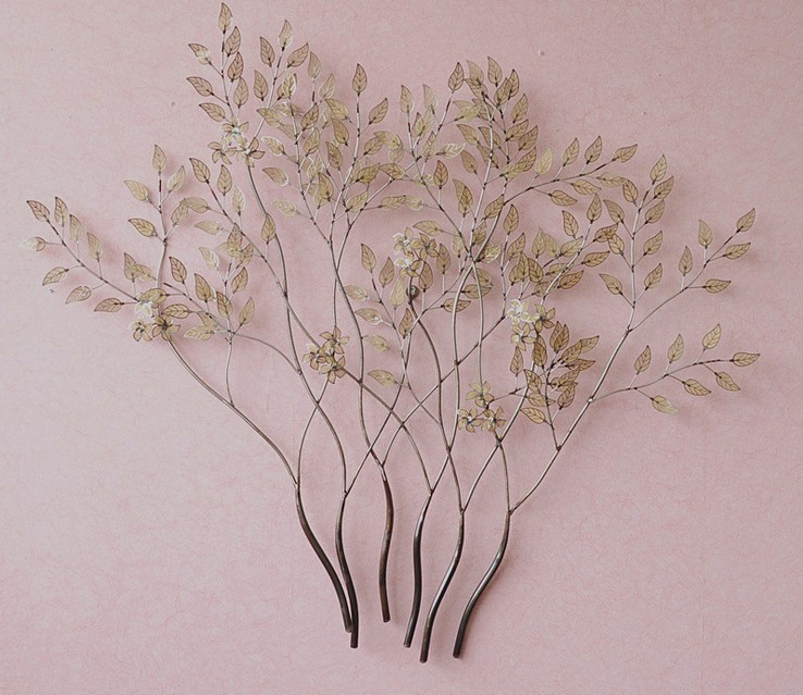 Modern Home Decoration Metal Wall Art Hand Made Sliver Branch And Golden Leaves As Decor Gift 86 81cm On Aliexpress Alibaba Group