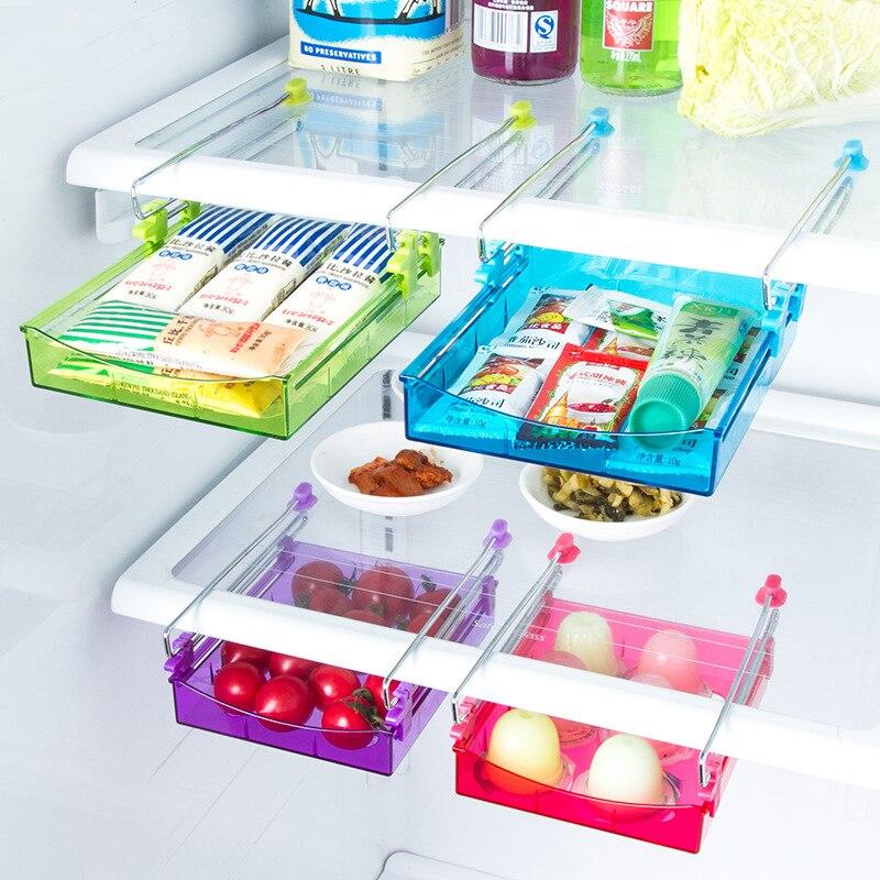Refrigerador de la cocina Cajón Deslizante Space Saver Organizador Refrigerador