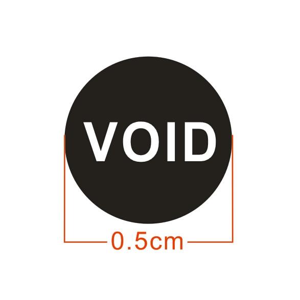 500pcs/lot 0.5cm Warranty fragile sticker if Mobile void sticker seal will broken custom sticker free shipping