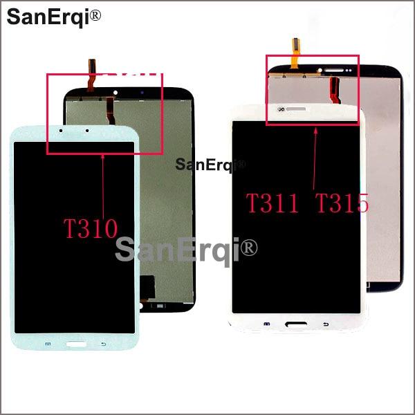 Pour Samsung Galaxy Tab 3 8.0 SM-T310 affichage SM T311 LCD matrice d'affichage écran tactile SM-T311 numériseur capteur pièces