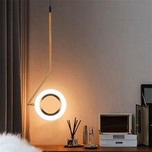 Nordic LED Pendant Lamps Bedroom Bedside Restaurant Chandelier Lighting Modern Luminaria Bar Brass Creative Designer