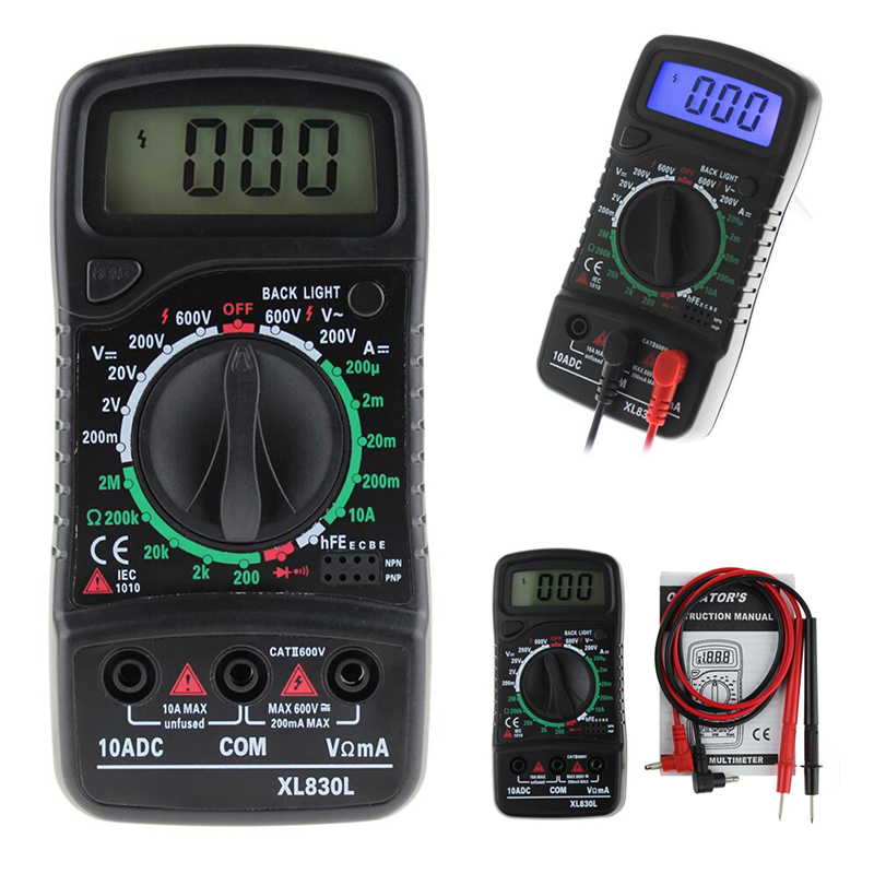 все цены на  XL-830L Digital LCD Multimeter Voltmeter Ammeter AC/DC/OHM Volt Current Tester  онлайн