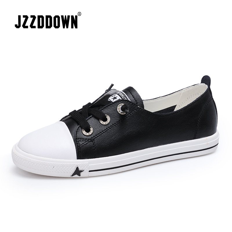 Women's Casual Sneakers Shoes Genuine Leather Ladies Flats Vulcanize Canvas Shoe Moccasin Loafers Fashion Party Shoe Wedding