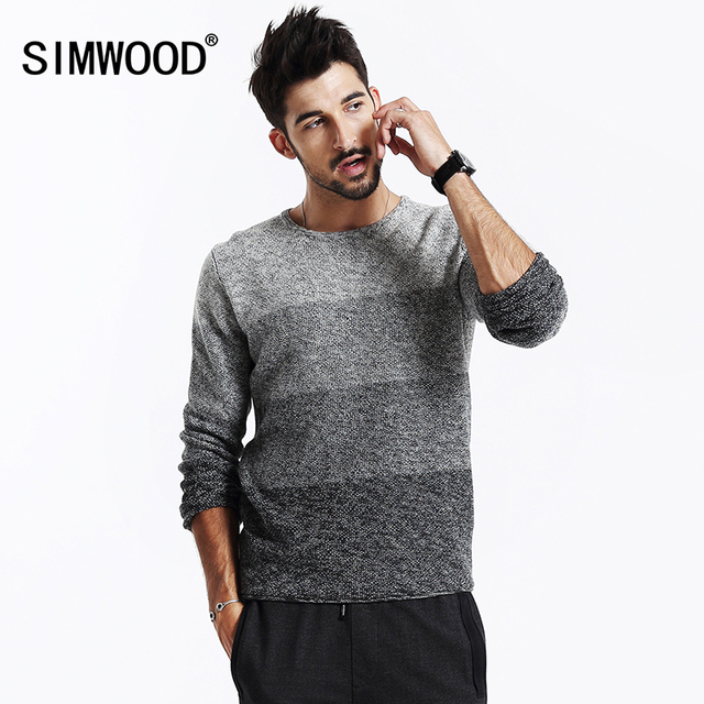 SIMWOOD 2017 new autumn winter  men  sweater cotton pullovers long sleeve knitted sweater MY2013