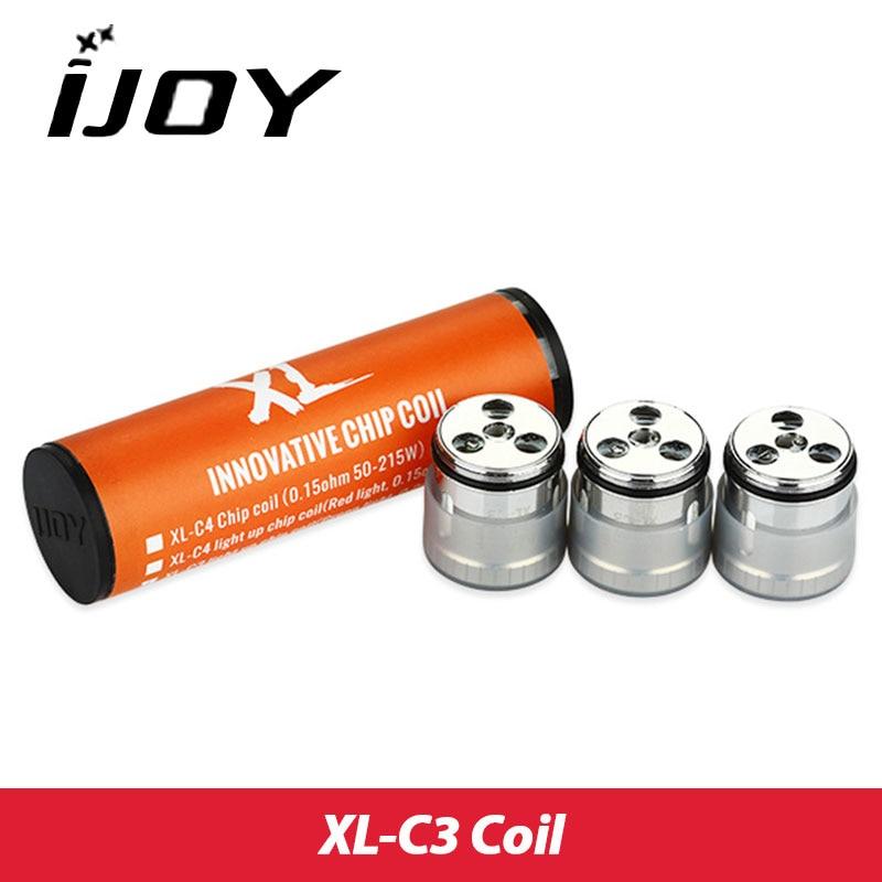 3pcs Original IJOY XL-C3 Chip Coil/ XL-C4 Chip Coil 0.15ohm for Limitless XL Tank Light Up Coil sesibibi 3pcs цвет случайный xl