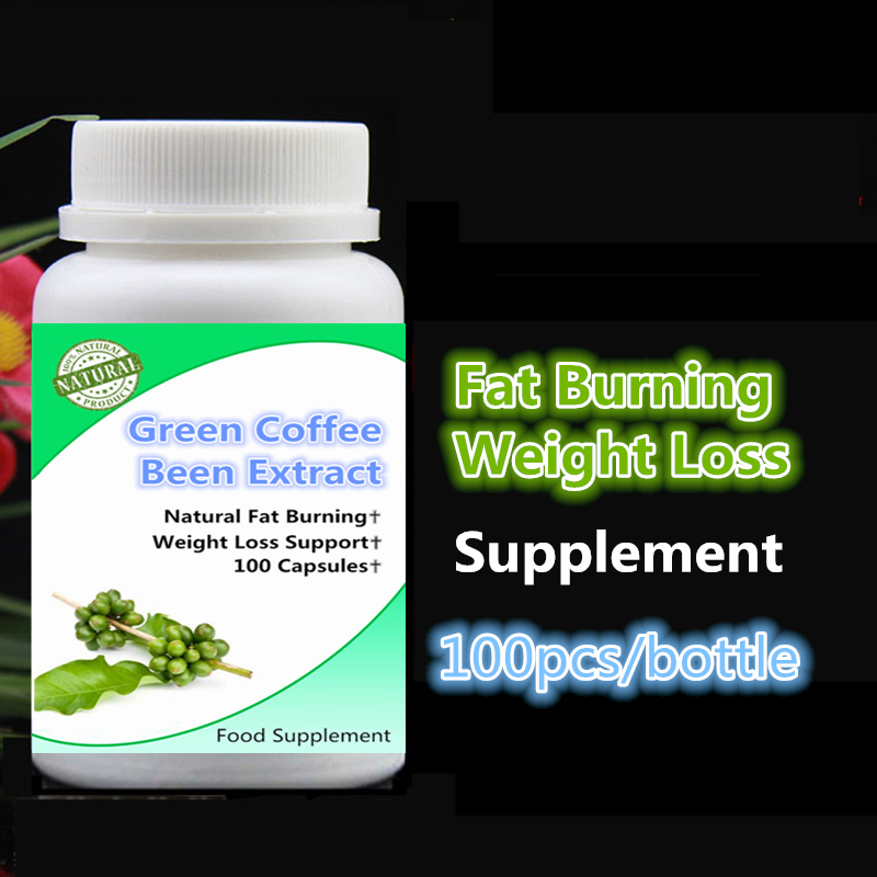 100pcs/bottle Pure Green Coffee Beans Extract ,Fat Burning Weight Loss & Slimming Support,Curbs Appetite, All Natural,Non-GMO 454g gold medal socona coffee beans coffee powder green slimming coffee beans tea