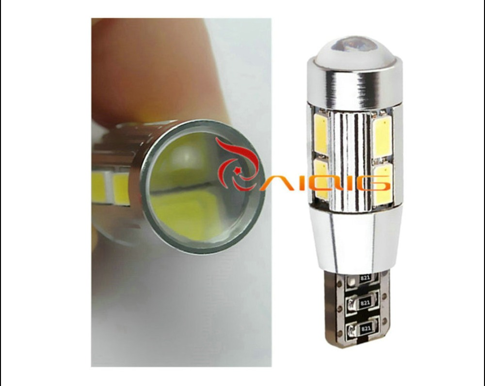 T10 W5W 5630 SMD Бял CANBUS OBC Без грешка LED лампа - Автомобилни светлини - Снимка 3
