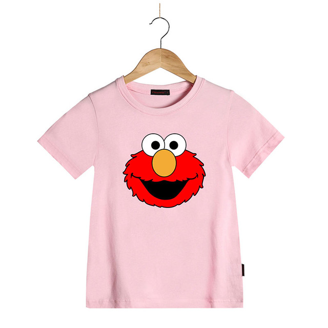 c9ebd0b18 Boy T Shirt Children Summer Kids Tshirts Kids Girls Cartoon Sesame Street  Elmo Cotton Summer T Shirt Short Sleeve Tshirt