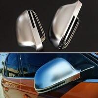 2 قطع الفضة ABS جانبية من الكروم مرايا الرؤية استبدال قبعات غطاء مرآة مصمم للسيارة أودي Q3