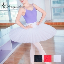red women professional half ballet tutu 7layer tulles adult girls practicing training ballerina tutu dress SD4029