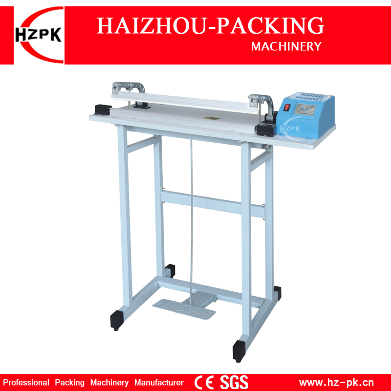 HZPK Foot Pedal Impulse Sealer Machine Packing Machine For Food Product Saver Plastic Bags Sealing Machine Sealer 600mm SF-600