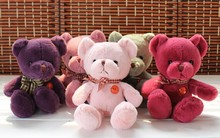 10 pieces lovely muti-colour teddy bear toy plush cute teddy bear toy gift doll about 25cm
