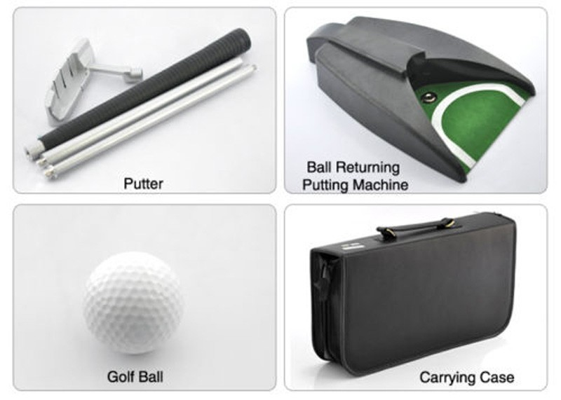 New Home Indoor Office Outdoor Golf Training Set Auto Putting Cup Ball Return System Zinc