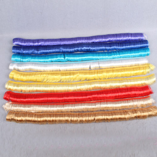 10pieces/slot doll red gold black blue yellow black hair wig fringe hair for 1/3 BJD doll accessory DIY