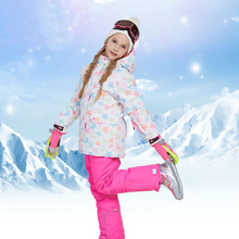 Girl Winter Ski Suit Outdoor Snowboard Jacket Waterproof Childrens Set Boy Hooded Roupa De Skiing Warm Windproof Terno Esqui