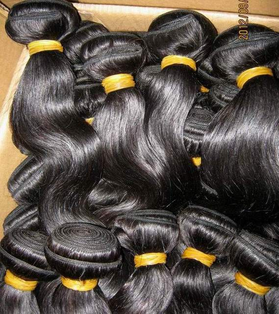 Bulk Order Cheap 7A Indian body wave Wavy human virgin hair 10pcs/lot(1kg) African American Fashion VIP Quality