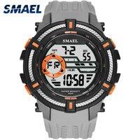 Montres de Sport militaire SMAEL Cool montre hommes grand cadran S choc Relojes Hombre décontracté LED horloge 1616 numérique montres étanche