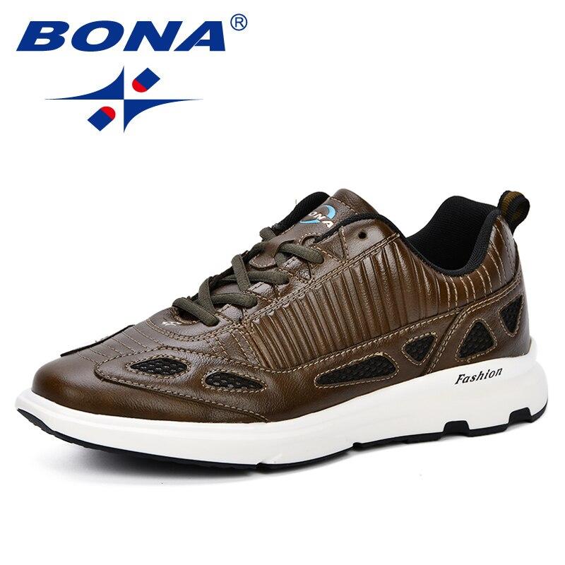 BONA nouveau Style à la mode homme respirant chaussures de marche hommes baskets 2018 automne chaussures de Sport en plein air chaussures d'entraînement chaussures de Trekking