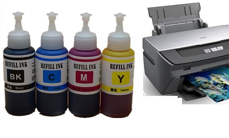 4 x 70ml Refill Dye Ink Kit Kits For Epson L313 L350 L351 L353 L355 L358  L360 L363 L365 L455 L550 L551 L555 L565 L655 Printer