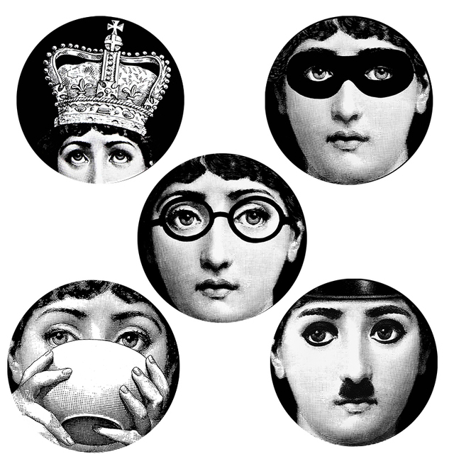 5 pieces Milan Designer 10 inch fornasetti plates pattern wall sticker creative separated painting DIY decorative  sc 1 st  AliExpress.com & 5 pieces Milan Designer 10 inch fornasetti plates pattern wall ...