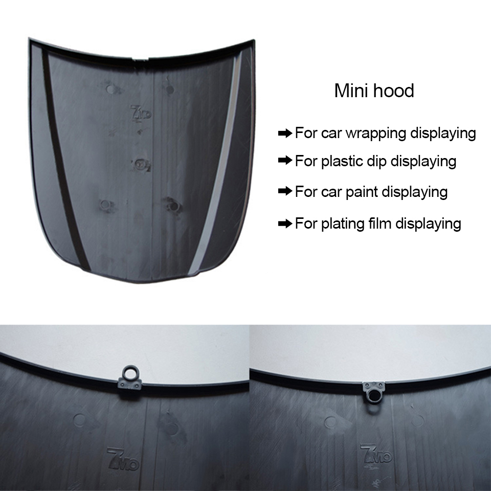 Image 4 - Plastic Mini Hood 26*30cm Car Bonnet Plasti Dip Display Model Without Paint For Car Wrap displaying MO 179S Whole Sale-in Car Stickers from Automobiles & Motorcycles