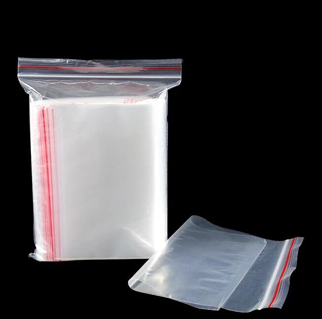100pcs Mini Small Zip Lock Clear Bag Grip Plastic New Packaging Bag