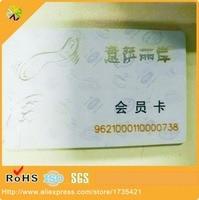 Plastic Glossy Lamination VIP Discount PVC Card Fundraising Cards Laminated Plastic Card
