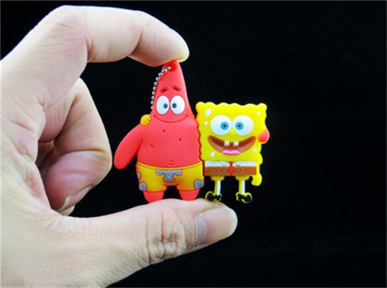 100% real capacity hot new cool Cute gift SpongeBob SquarePants Patrick Star model 4gb- usb Flash Drive pen pen driver S246