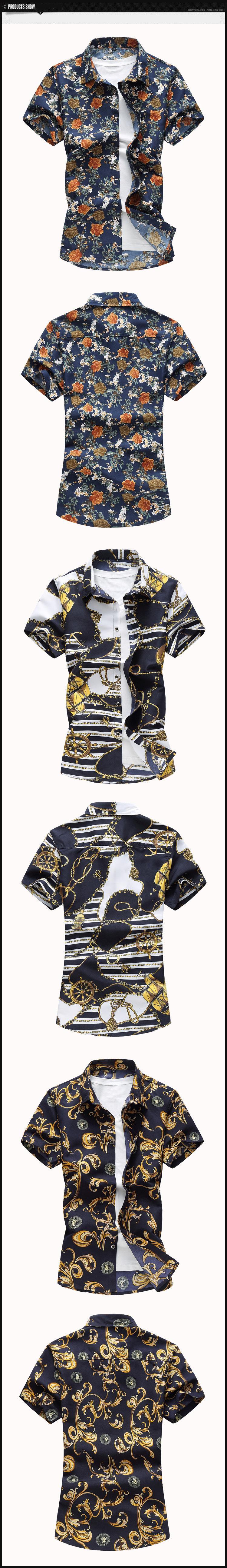 Fashion Men's Social Hawaiian Short Sleeves Shirt