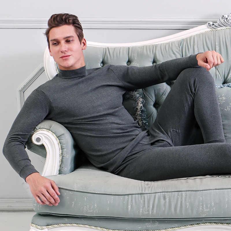 MRMT 2019 брендовая Зимняя мужская футболка из чистого хлопка, тонкий комплект, основа, низ, футболка для пожилых людей, мужское теплое нижнее белье