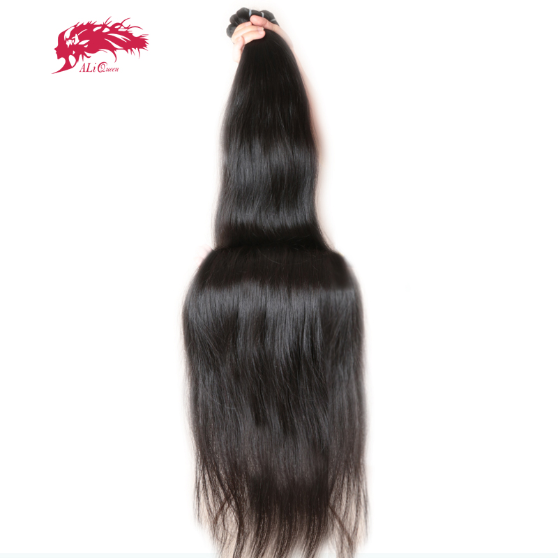 Ali Queen Hair Products 10A Virgin Brazilian Straight Hair Longer Length 30 to 38 100 Human