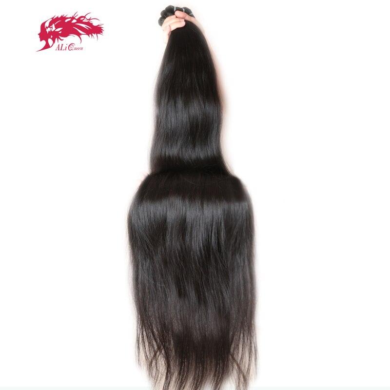 """עלי מלכת שיער מוצרי בתולה ברזילאי ישר שיער ארוך יותר אורך 30 """"כדי 38"""" 100% שיער טבעי לארוג עם משלוח חינם"""