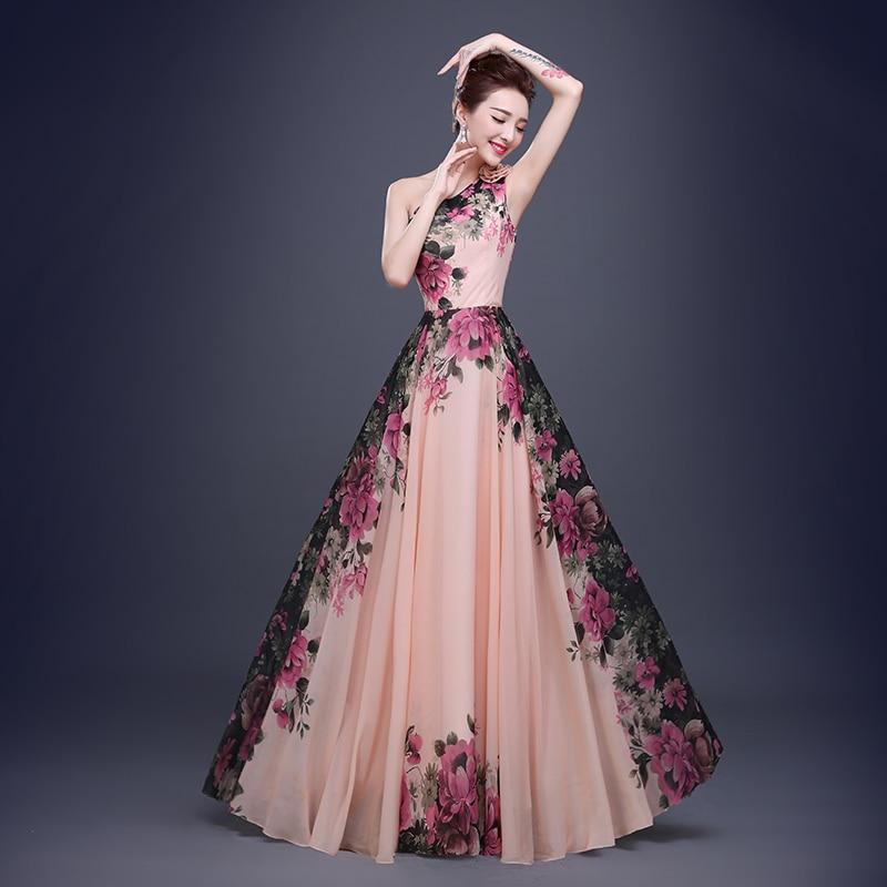 Estampado floral Corto Barato Vestidos de dama de Honor Formal de ...