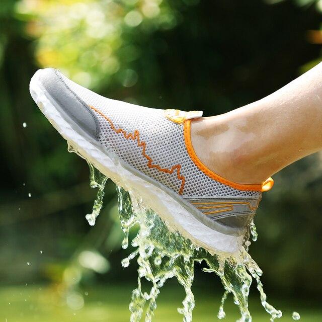 MAISMODA Summer Outdoor Shoes Men Women Lightweight Breathable Mesh Creek Beach Quick Dry Wading Upstream Fishing Net Water Shoe 2