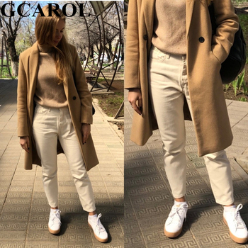 GCAROL 2019 Spring Fall Elastic Waist Retro Old Pants Ankle Length First Love Loose Vintage Straight Pants Plus Size 25-32 3