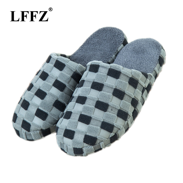 LFFZ 2018 New Autumn and Winter Warm Men slippers Cotton-padded Lovers at house Family Home Slippers indoor shoes ST303