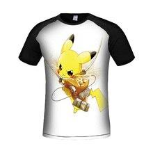 2017 Новый 3d Напечатаны Покемон Идут Майка Мужчин Высокое Качество лето Мальчик Comic Con Косплей pokemon аниме Harajuku Смешные Футболки Homme
