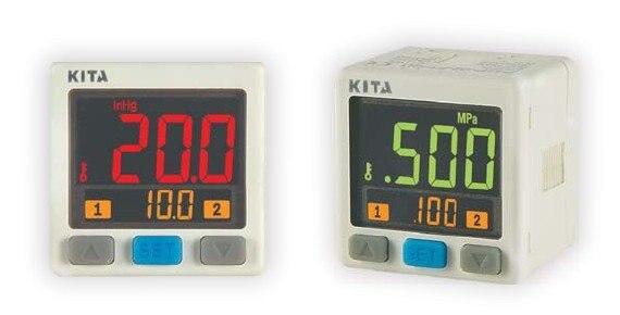 KITA new digital pressure switches KP43C-010-F1 -0.1~0.1MPa DC12-24V NPN OUTPUT kita new and original kp42p 02 f1 high precision digital vacuum pressure switch 100kpa 1000kpa 12 24v
