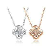 Ожерелье с четырехлистным клевером длинное ожерелье четырьмя