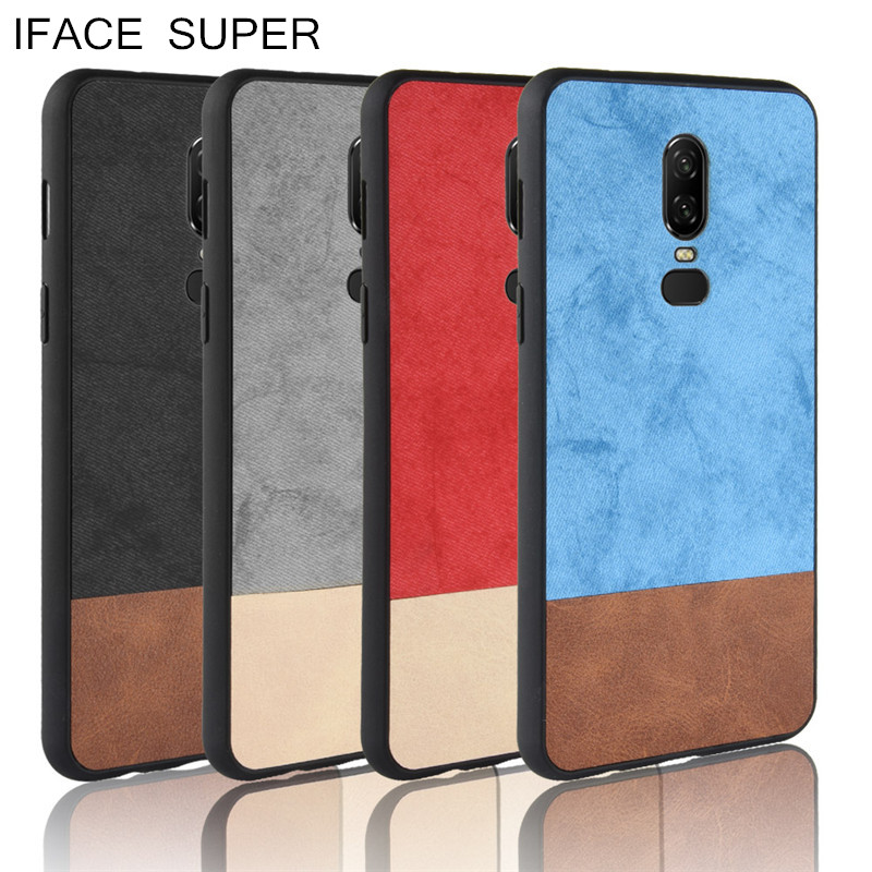 For Oneplus 6t Case Silicone Fabric Denim Pu Leather Cover Shockproof Capa For Oneplus 6t Case Fundas Phone Shell n0921 Fitted Cases