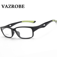 Vazrobe Non Slip Sports Glasses Men Women Full Rim Eyeglasses Frames Eyewear For Prescription TR90 Foldable