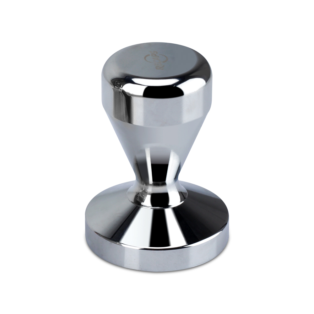 Recaps 51mm Besi Pepejal dengan Chrome Plated Base Coffee Tamper untuk Espresso Coffee Machines Silver Color Press Coffee Grind