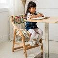 Estudante multifuncional elevador crianças cadeira cadeira do computador cadeira pequena correção de postura de madeira (pode lavar)
