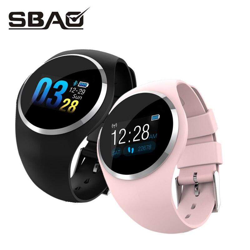 Reloj inteligente de las mujeres de los hombres pulsera de Monitor de presión arterial pulsera para Android iOS PK xio mi banda 2 3 Fitbits