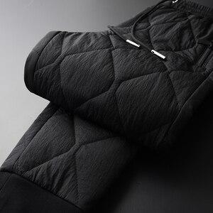 Image 4 - Minglu Inverno Pantaloni da Uomo di Lusso Aggiungere Imbottitura Spesso Tenere in Caldo Pantaloni Degli Uomini Più Il Formato 4xl Moda Elastico in Vita Degli Uomini di Autunno di Pantaloni